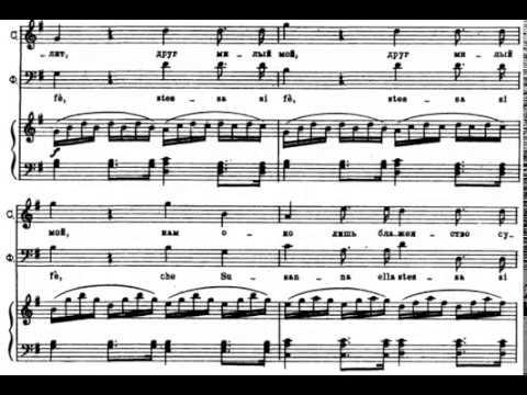Cinque, Dieci, Venti (Le Nozze di Figaro - W. A. Mozart) Score Animation