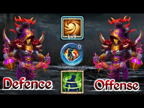Occultist | 9 Sacred Light | 9 Stone Skin | 5 HC | Offense And Defense Both Video| Castle Clash