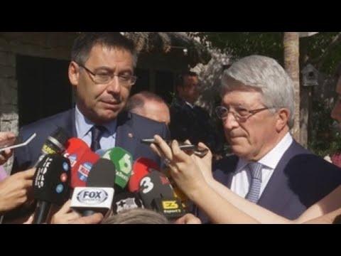 """Bartomeu sobre las connotaciones políticas del Atleti-Barça: """"Estamos tranquilos"""""""