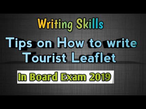 Tourist Leaflet Writing Skills Board Exam 2019 - YouTube
