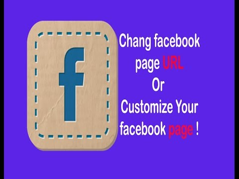 How do i change my facebook business page url