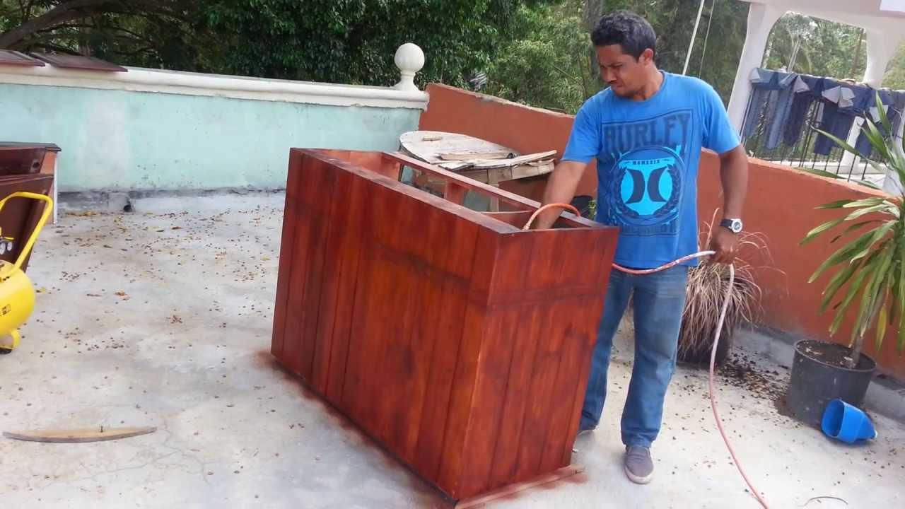 Como hacer isla de cocina proceso de pintura youtube for Construir isla cocina