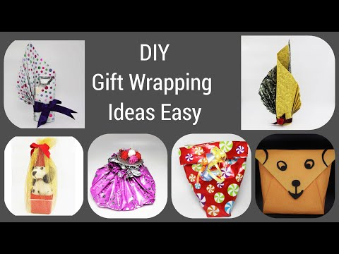 6 DIY GIFT WRAPPING IDEAS WITHOUT BOX | ODD SHAPED GIFT WRAPPING TUTORIAL EASY/BOTTLE WRAPPING IDEAS