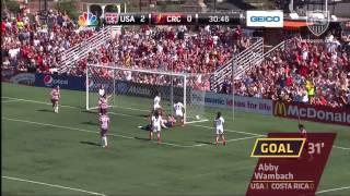 U.S. WNT vs. Costa Rica: Highlights - Sept. 1, 2012