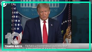 President Trump discusses the future of TikTok in the United States