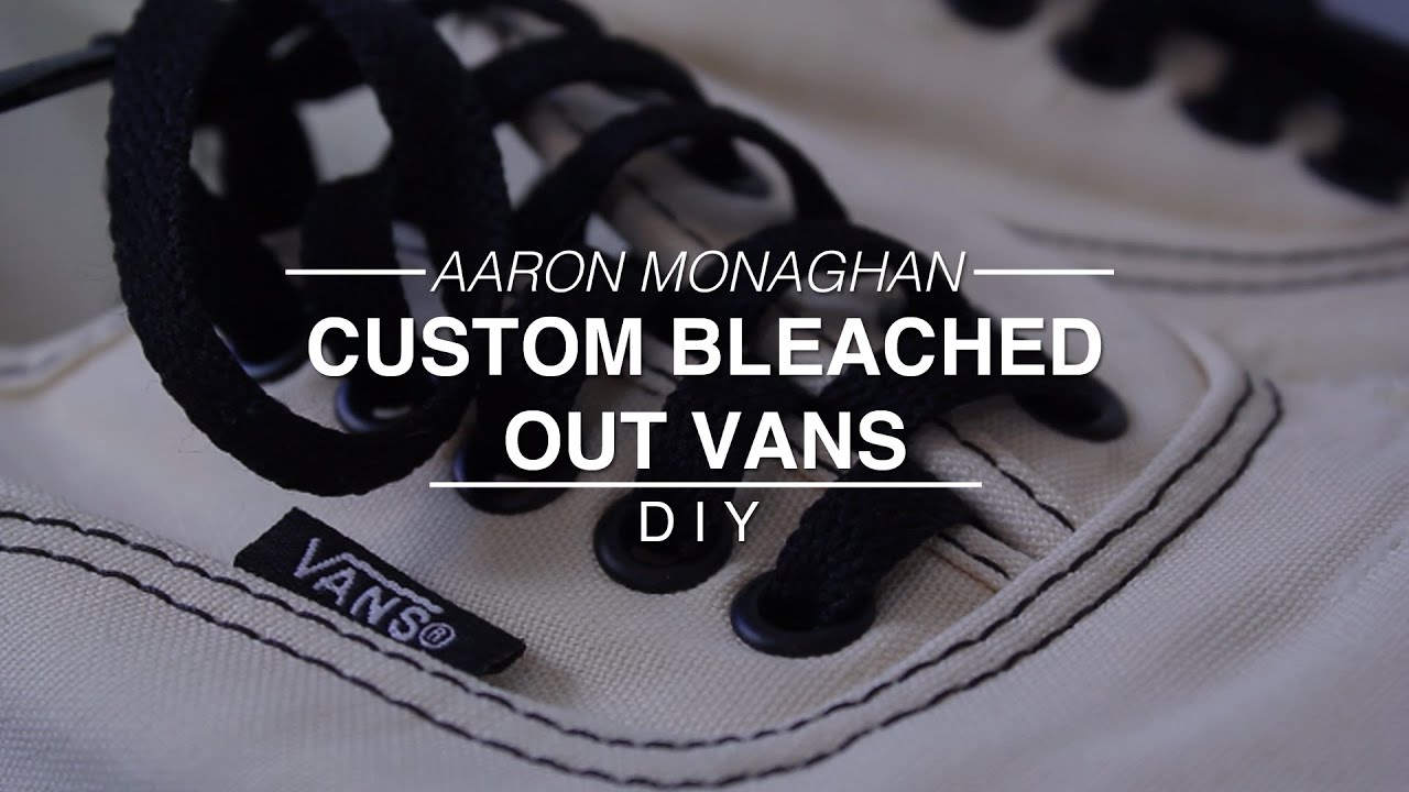 Custom Bleached Out Vans