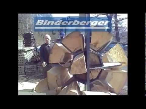 Spaltgigant Binderberger 40 Tonnen Firewoodsplitter  40 to Holzspalter Spalter