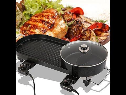 Review:  Elitek Smokeless Korean Hot-pot Design Multi-function Electric Oven BBQ Non-stick Pan