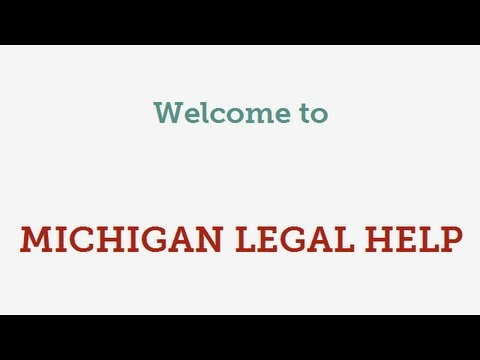Welcome to Michigan Legal Help