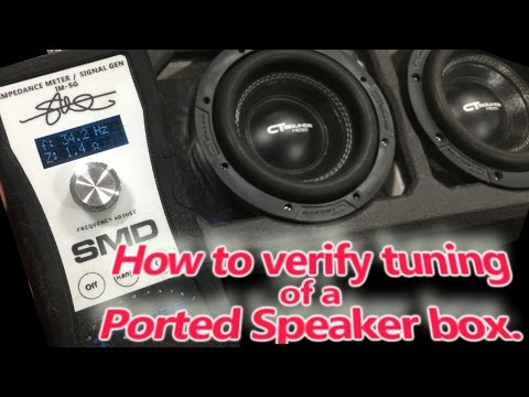 Ported Subwoofer Enclosure - How to find or Verify Actual Tuning Frequency - SMD IMSG