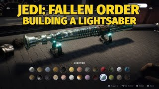 Building a Lightsaber in Jedi: Fallen Order (All Lightsaber Parts)