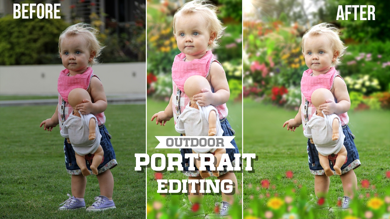How to change Background and blur photos in Photoshop   kids birthday  photography editing