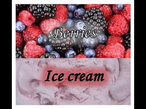 Mixed berries ice cream  simple and wonderful