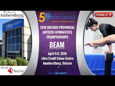 Thursday - Beam (Gym A) - 2018 Level 6-10 & National Ontario Championships - W.A.G.
