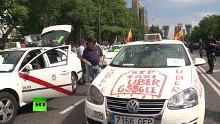 Итальянские таксисты протестуют против мобильного приложения Uber(, 2014-12-20T14:26:42.000Z)