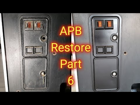 Atari APB All Points Bulletin Arcade Repair And Restore Part 6 - Coin Door And Coin Counter