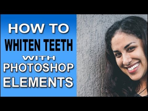 Whiten Teeth With Photoshop Elements Youtube