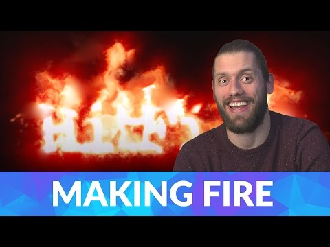 How to create flaming text in HitFilm