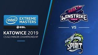 CS:GO - Winstrike vs. Team Spirit [Nuke] Map 1 - LB Final - IEM Katowice CIS Minor 2019