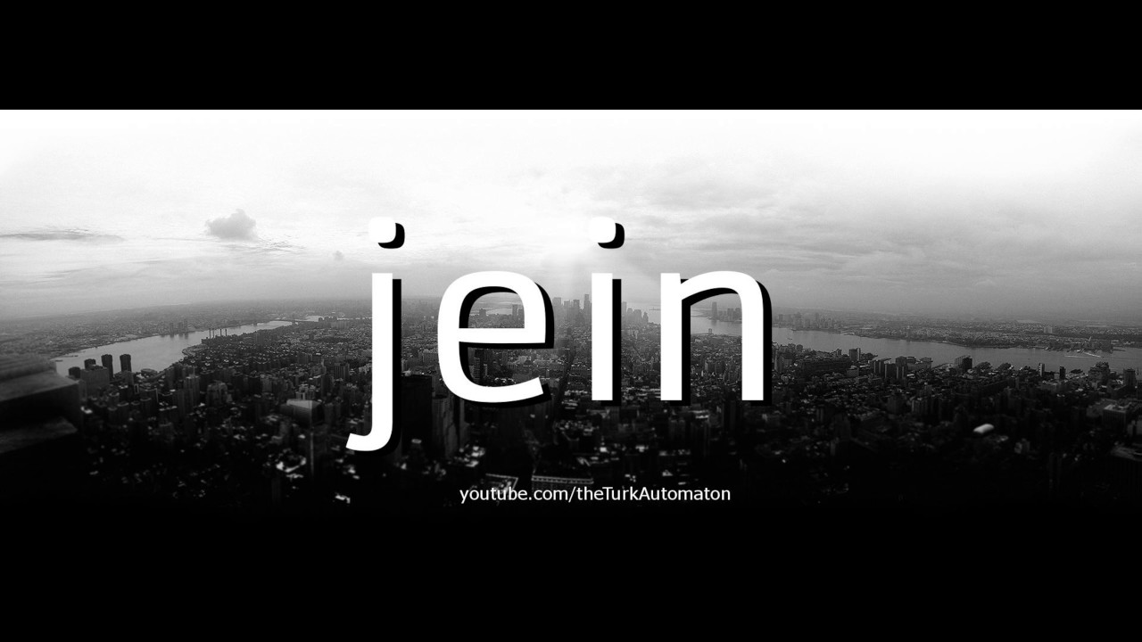 How to pronounce jein in German - YouTube
