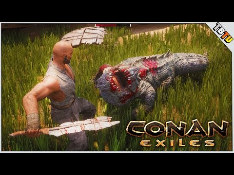 CROCODILE OF DEATH! NEW PATREON & SPONSOR SERVER! Conan Exiles PC Gameplay E1