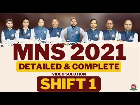 MNS 2021 Exam Shift 1 Question Paper with Answers & Expected Cut off   Centurion Defence Academy