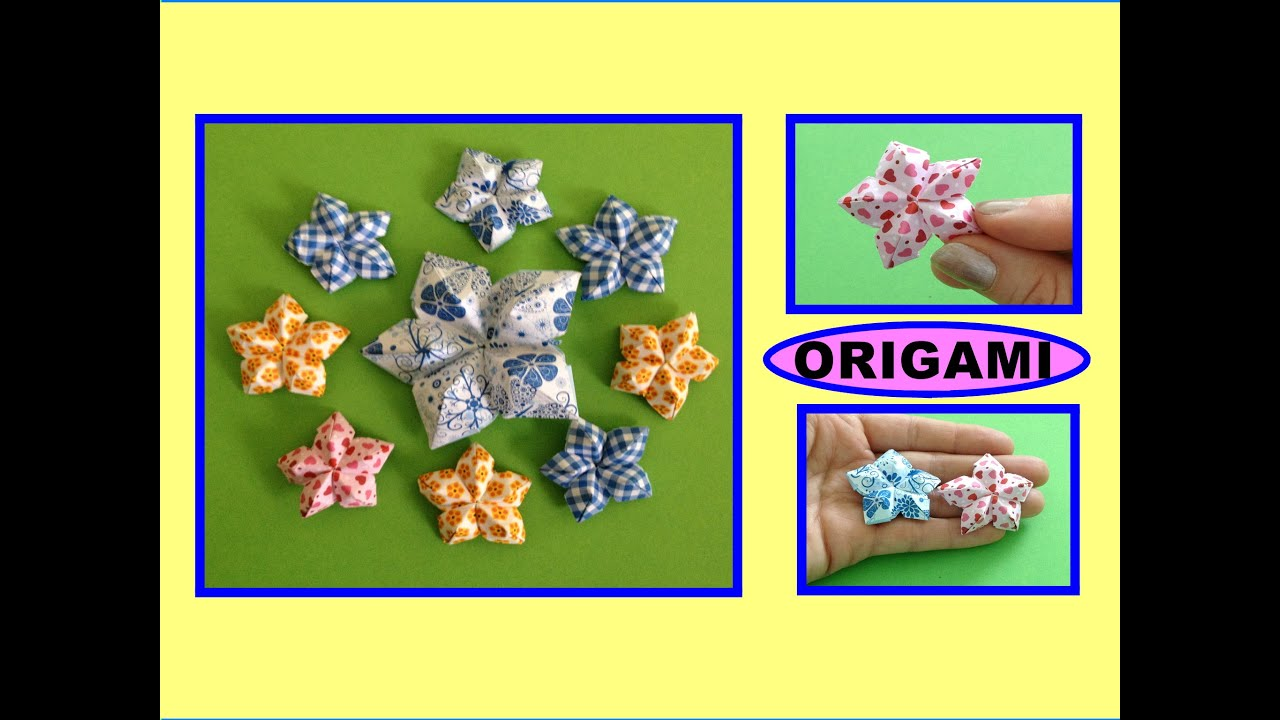 diy origami flower easy for beginners origami blume schnell und einfach f r anf nger youtube. Black Bedroom Furniture Sets. Home Design Ideas