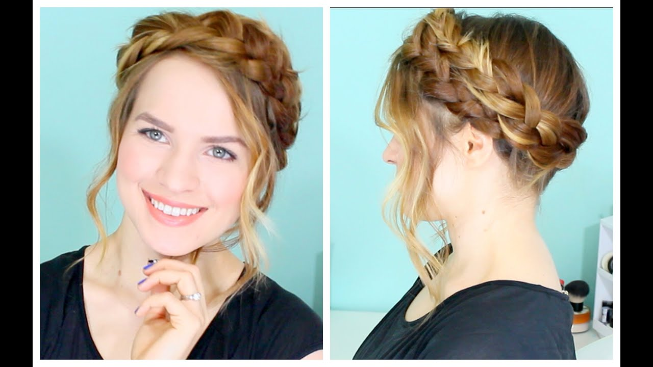 how to: easy crown braid - youtube
