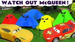 Learn Colors With Cars Lightning Mcqueen And Spooky Play Doh Ghosts For Kids Tt4u