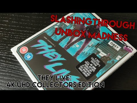They Live 4k UHD Collector's edition - Unbox Madness Slashingthrough