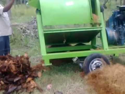 Coir Fiber Extraction Machine Youtube