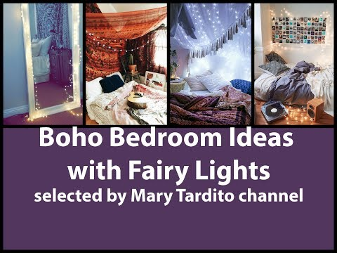 Boho Bedroom Ideas with Fairy Lights Room Decor - Bohemian Decor Inspiration