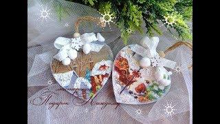 christmas ornaments\Новогодние елочные игрушки своими руками в технике декупаж/Christmas toys