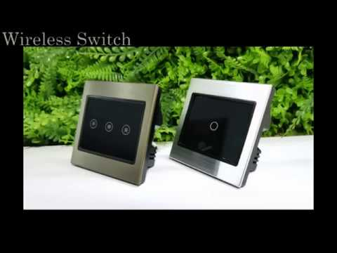 Touch Panel Electric Dimmer Switch PC Cover Plate Lighting ...