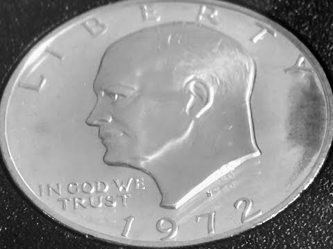 1972 S Eisenhower Silver Dollar Coin (Worth $9)