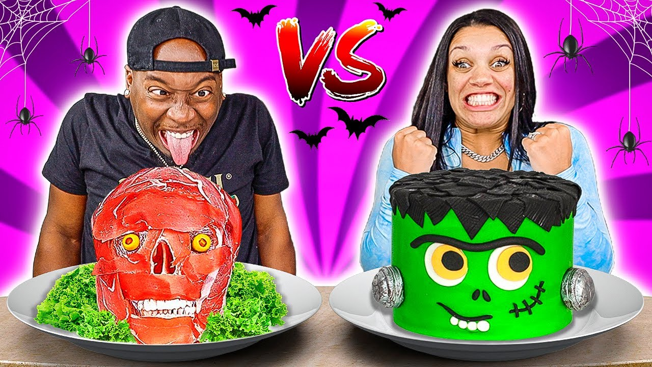 HALLOWEEN FOOD VS REAL FOOD CHALLENGE
