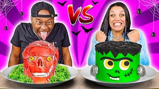 HALLOWEEN FOOD VS REAL FOOD CHALLENGE