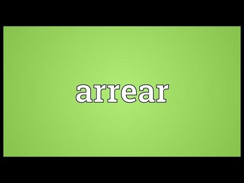 Header of arrear