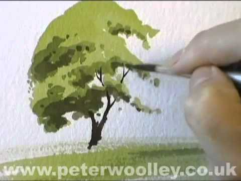 Diễn họa cây bằng màu nước