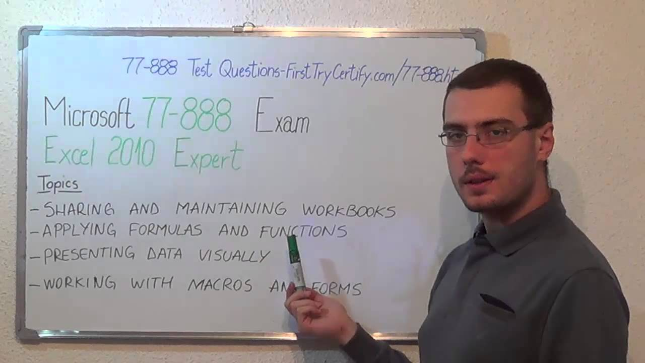 77 888 Microsoft Exam Excel 2010 Test Expert Questions Youtube