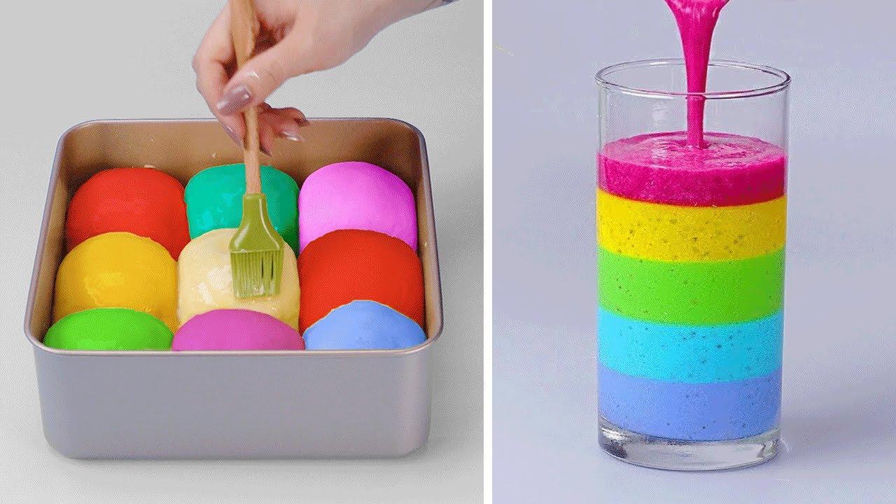 How To Make Rainbow Themed Dessert Cake, Cupcakes Hacks | Very Satisfying Cake Decorating Ideas