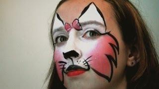 Repeat youtube video Katze schminken für Fasching - Katzengesicht Kinderschminken Anleitung
