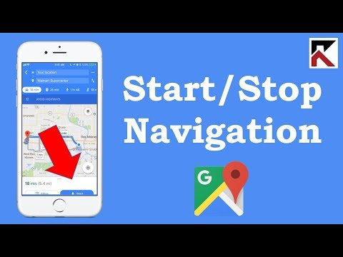 How To Start Or Stop Navigation Google Maps iPhone