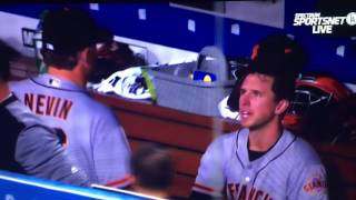 buster posey chews out phil nevin