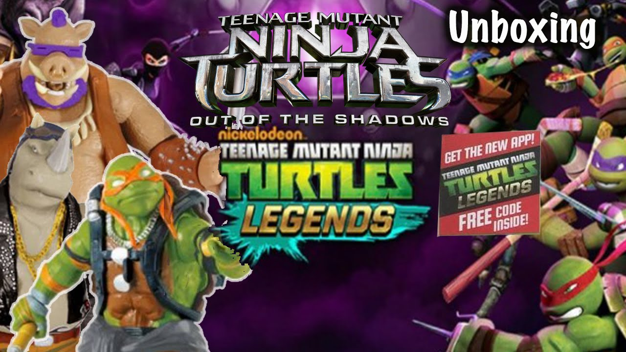 Unboxing Tmnt Out Of The Shadows Figures 2 Legends Codes Bebop