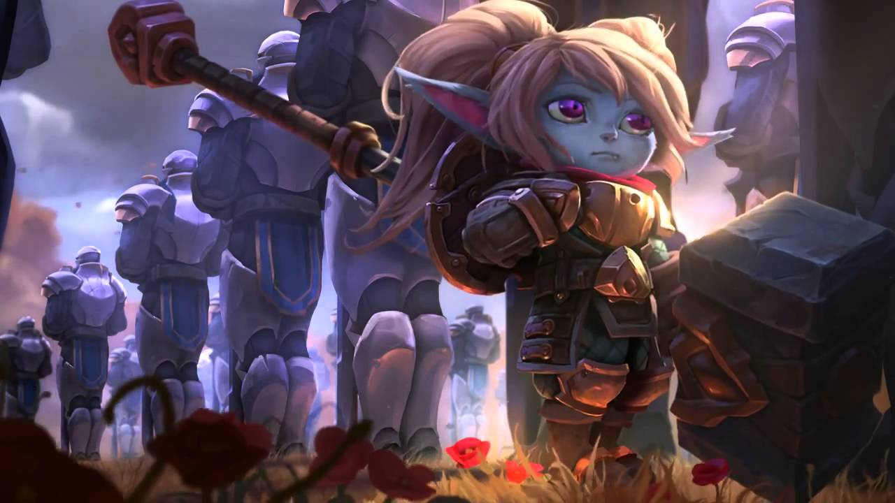 Wallpaper Zombie Girl Poppy League Of Legends Login Screen With Music Youtube