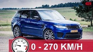 Speed: Range Rover Sport SVR (0 - 270 km/h)