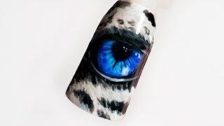 Дизайн ногтей: глаз леопарда.  Роспись гель лаком пошагово. Леопардовый маникюр(В этом видео я покажу, как нарисовать глаз леопарда на ногтях гель-лаками. Кисть из видео - http://ali.pub/hsizy Полез..., 2016-08-15T15:13:59.000Z)