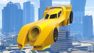 FLYING BATMOBILES! - GTA 5 Funny Moments #746