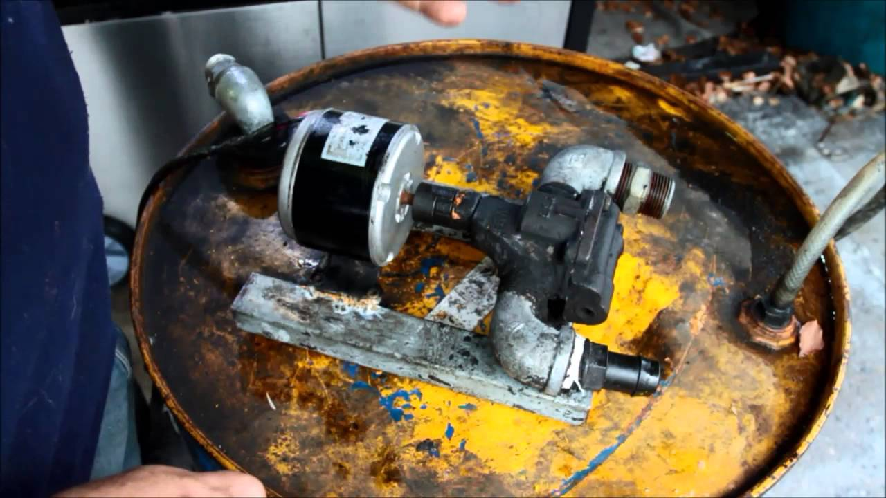 Oil collection pump for waste oil building and description for Burning used motor oil for heat